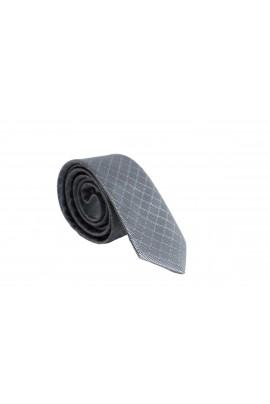 Slim Ανθρακή Γραβάτα 4,5cm Πλάτος με λεπτή ρίγα