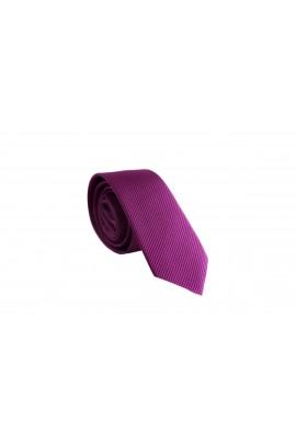 Slim Βιολετή Γραβάτα 4,5cm Πλάτος ανάγλυφη Γραβάτα