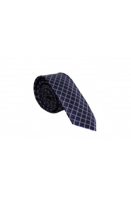 Slim Μώβ Γραβάτα 4,5cm Πλάτος με ασημί σχέδιο