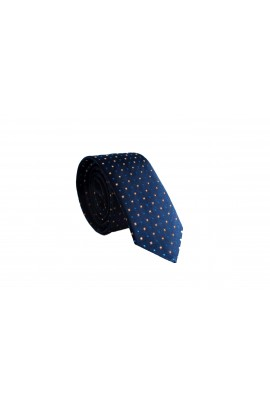 Slim Μπλέ Γραβάτα 4,5cm Πλάτος με μικροσχέδια