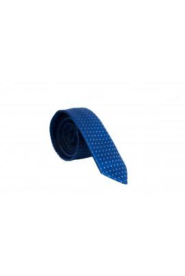 Slim Μπλέ Γραβάτα 4,5cm Πλάτος με Μικροσχέδιο