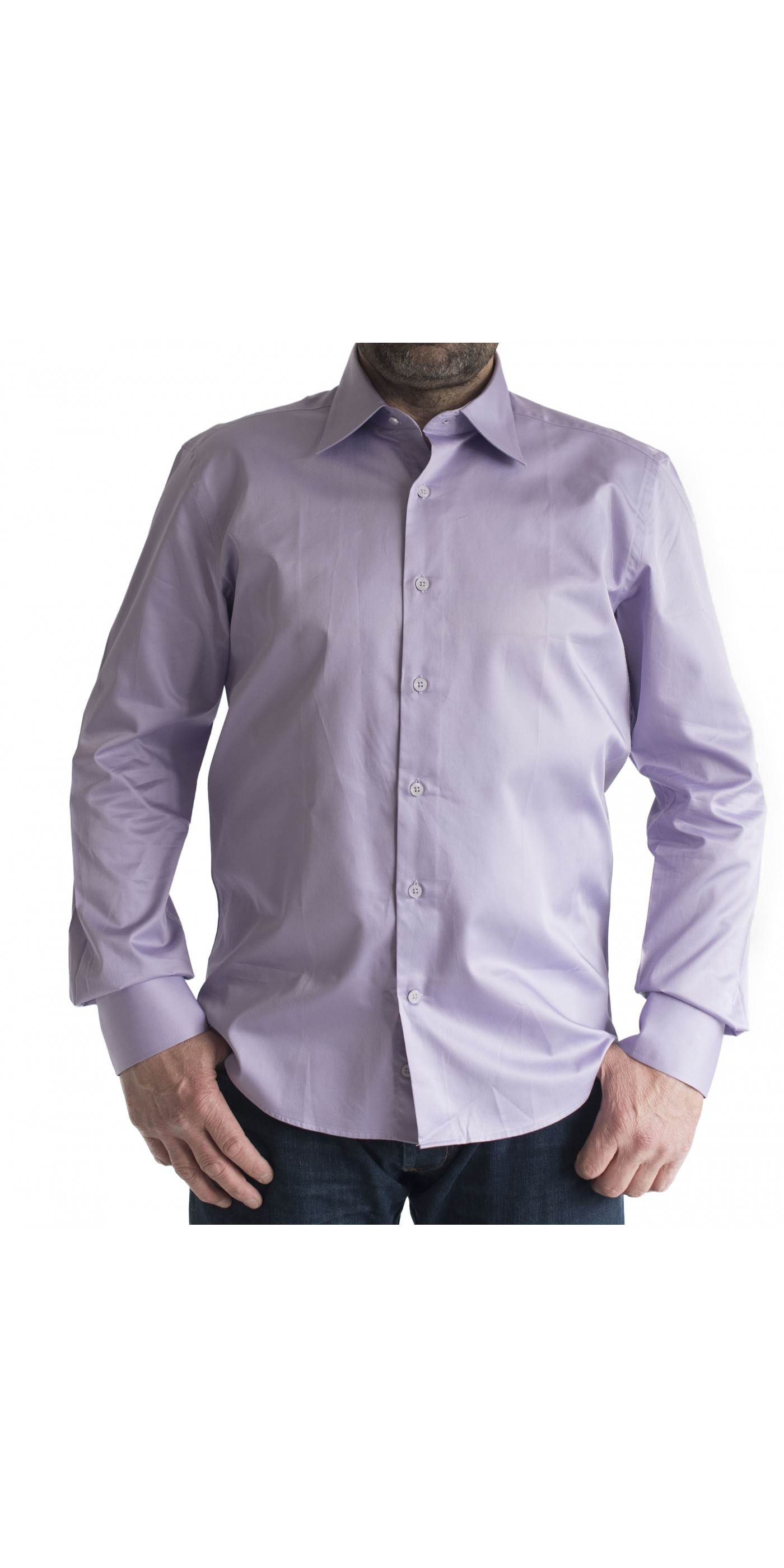 cb24d059af29 Ανδρικό σπόρ πουκάμισο slim fit μονοχρωμο μωβ-λεβαντα. Loading zoom