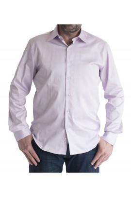 Ανδρικό πουκάμισο Slim Fit μονόχρωμο λιλά