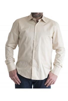 Ανδρικό πουκάμισο Slim Fit μονοχρωμο μπεζ