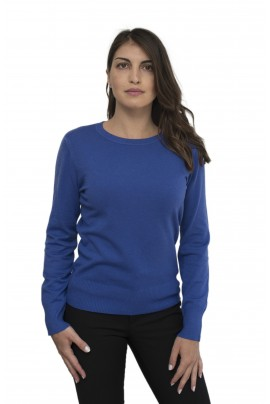 Μπλε ρουα γυναικεία απαλή μπλούζα με λαιμόκοψη