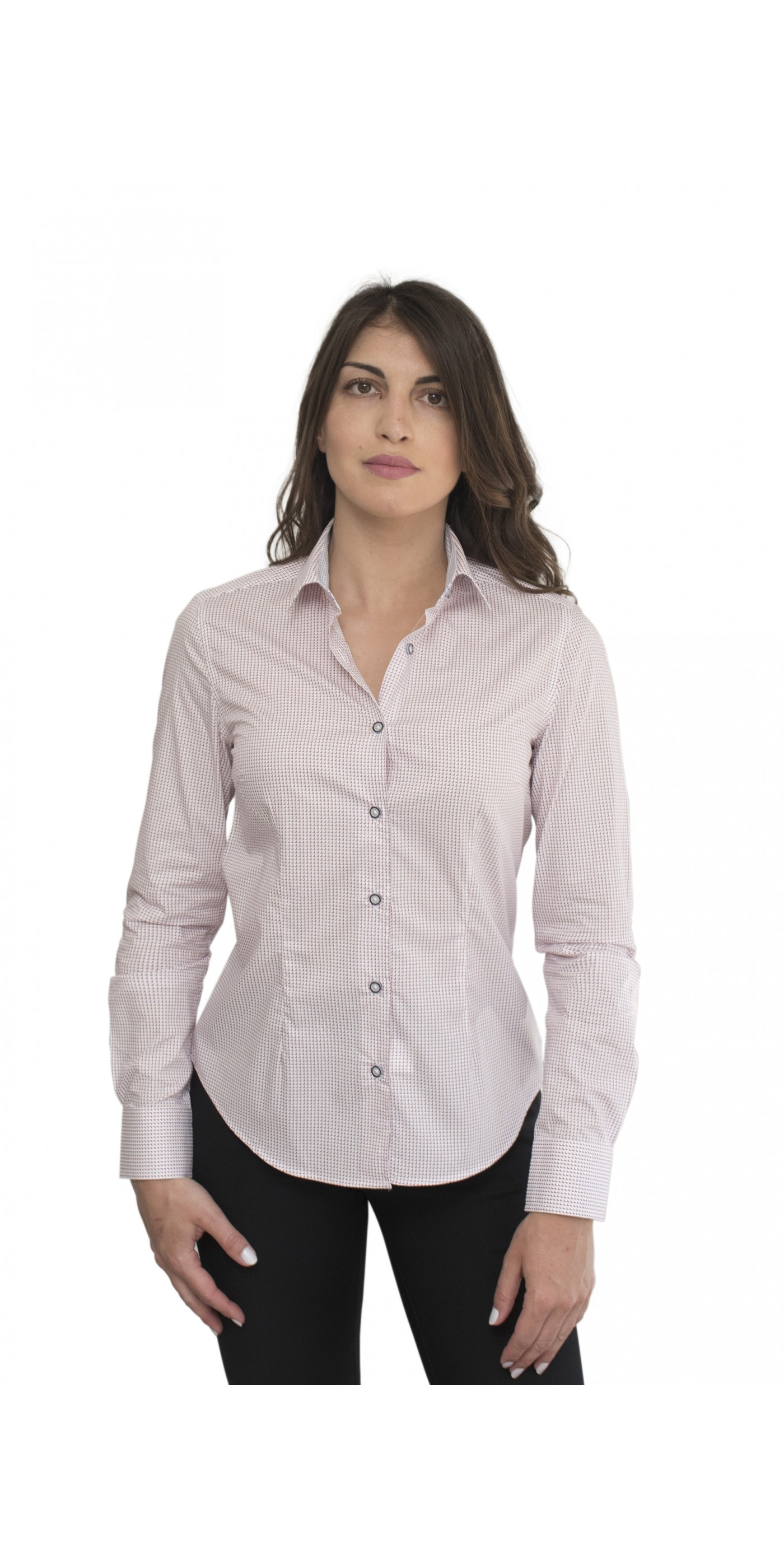 d32f2ff2bca2 Λευκό γυναικείο πουκάμισο με κόκκινα μοτίβα