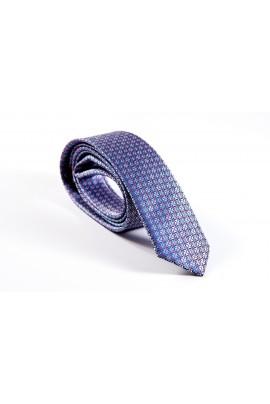 Slim ασημί γραβάτα με κόκκινα τετραγωνάκια