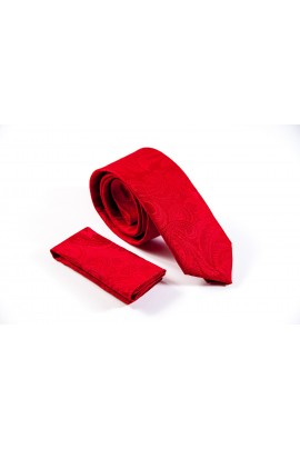Regular κόκκινη με ανάγλυφο σχέδιο και μαντηλάκι